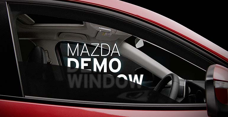 Mazda Demo Window